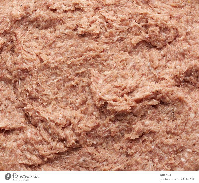 Textur von gehacktem Schweinefleisch und Schmalz Fleisch Ernährung frisch rosa rot weiß texturiert Konsistenz hacken Koch Essen zubereiten Farce Fett Brotbelag
