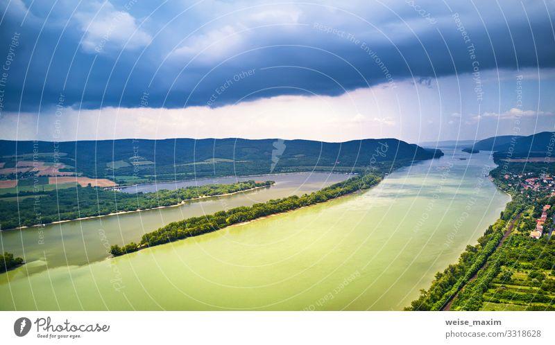 Himmel Ferien & Urlaub & Reisen Natur Sommer blau grün Landschaft Wolken Wald Berge u. Gebirge Umwelt natürlich Tourismus Regen Wetter Aussicht