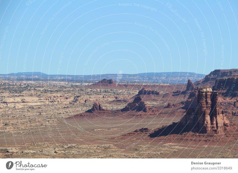 Landscape near Lake Powell Utah USA Ferien & Urlaub & Reisen Umwelt Natur Landschaft Wolkenloser Himmel Sonne Klima Klimawandel Wetter Schönes Wetter Schlucht