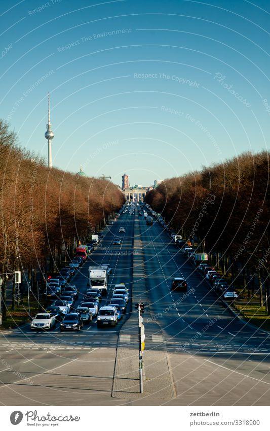 Straße des 17. Juni nach Osten Berlin Großstadt Deutschland Ferne Hauptstadt Horizont Ferien & Urlaub & Reisen Reisefotografie Skyline Stadt Tourismus