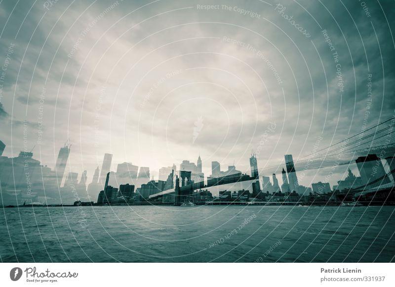Ghost of New York Stadt Stadtzentrum Skyline Hochhaus Dekadenz Identität innovativ Schwarzweißfoto Außenaufnahme Tag Licht Kontrast Panorama (Aussicht)