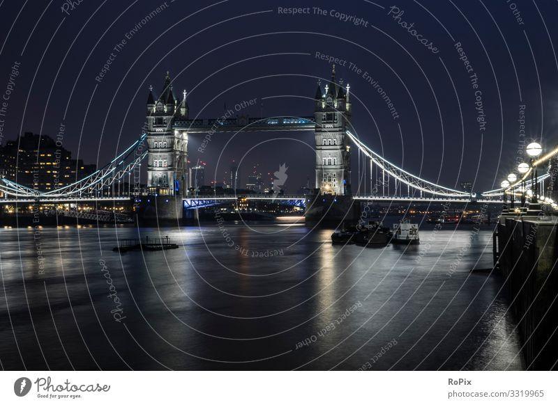 Tower Bridge bei Nacht. Lifestyle Stil Leben Erholung Freizeit & Hobby Ferien & Urlaub & Reisen Tourismus Sightseeing Städtereise Wirtschaft Handel Kunst