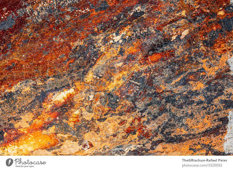Rost Kunst braun orange Kupfer Strukturen & Formen Muster Stein Farbfoto Außenaufnahme Menschenleer Textfreiraum rechts Textfreiraum oben Textfreiraum unten