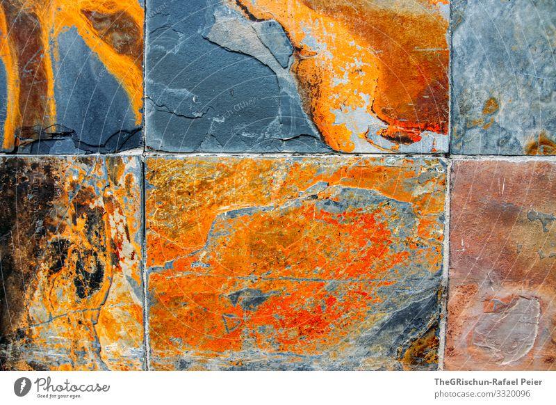 Platten Kunst braun grau orange Schallplatte Strukturen & Formen Muster Farbstoff Verlauf Kupfer Rost Teilung Hintergrundbild Farbfoto Außenaufnahme Experiment
