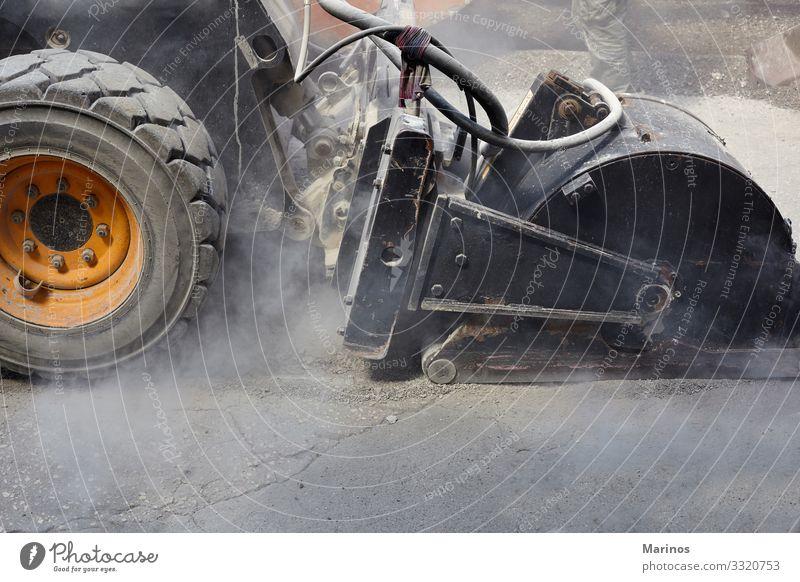 Industrielle Schwermaschinenarbeitsplätze im Straßenbau. Arbeit & Erwerbstätigkeit Maschine Gebäude Verkehr Autobahn Fahrzeug neu Konstruktion Flugzeugwartung