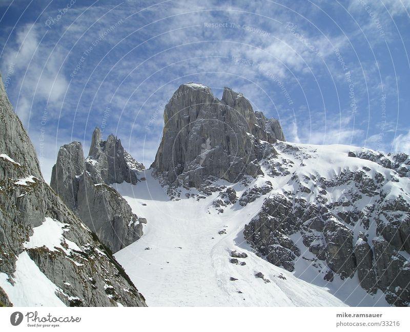 Bischofsmütze Winter Schnee Berge u. Gebirge Klettern Schneelandschaft Bergsteigen himmelblau