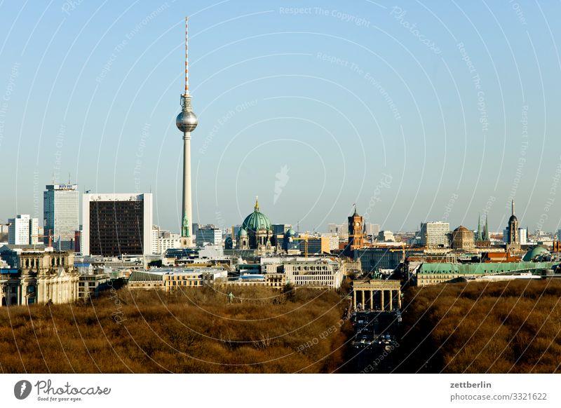 Skyline Berlin Richtung Osten Großstadt Deutschland Ferne Hauptstadt Horizont Ferien & Urlaub & Reisen Reisefotografie Stadt Tourismus Stadtleben Überblick