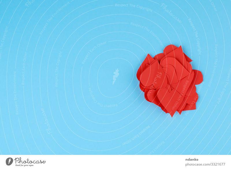 aus rotem Papier ausgeschnittene Herzen Stil Design schön Dekoration & Verzierung Feste & Feiern Valentinstag Muttertag Hochzeit Geburtstag Handwerk Sammlung