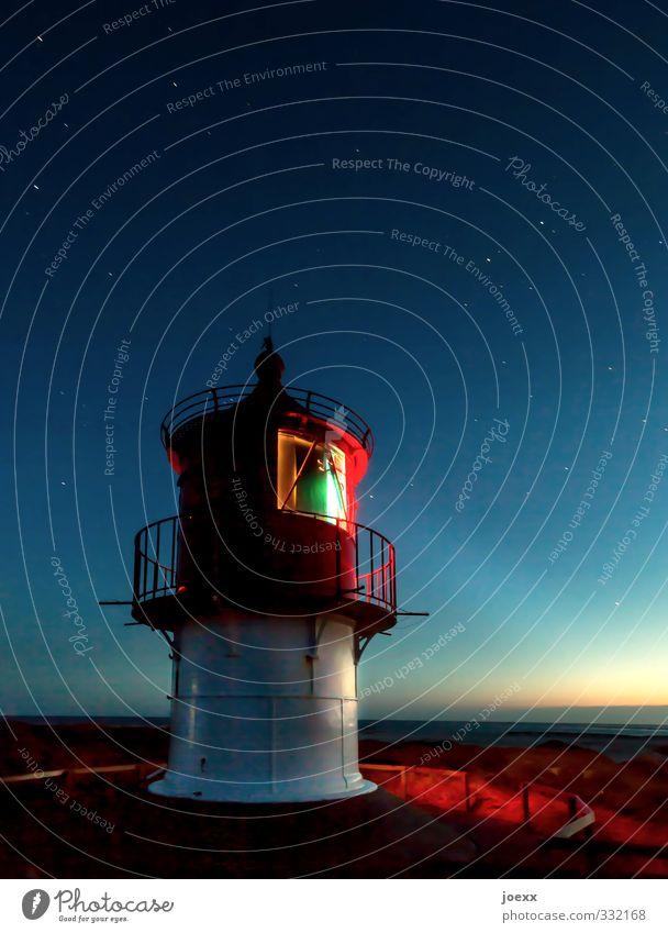 Diese Nacht gehört uns Himmel blau weiß rot ruhig schwarz gelb hell Horizont Stimmung leuchten hoch Insel Schönes Wetter Stern Sicherheit