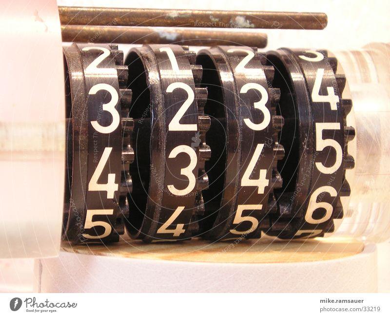Zählwerk Ziffern & Zahlen 3 4 5 Industrie Rad Technik & Technologie Detailaufnahme