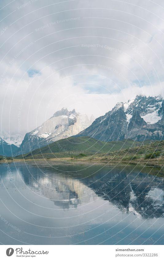 Chile Natur Landschaft Pflanze Himmel Wetter Felsen Berge u. Gebirge Gipfel Schneebedeckte Gipfel Gletscher Schlucht Küste Seeufer Flussufer Bucht Fjord