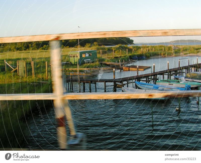 Ostsee beim fahren! Rügen Natur Wasser Hafen Sonneuntergang