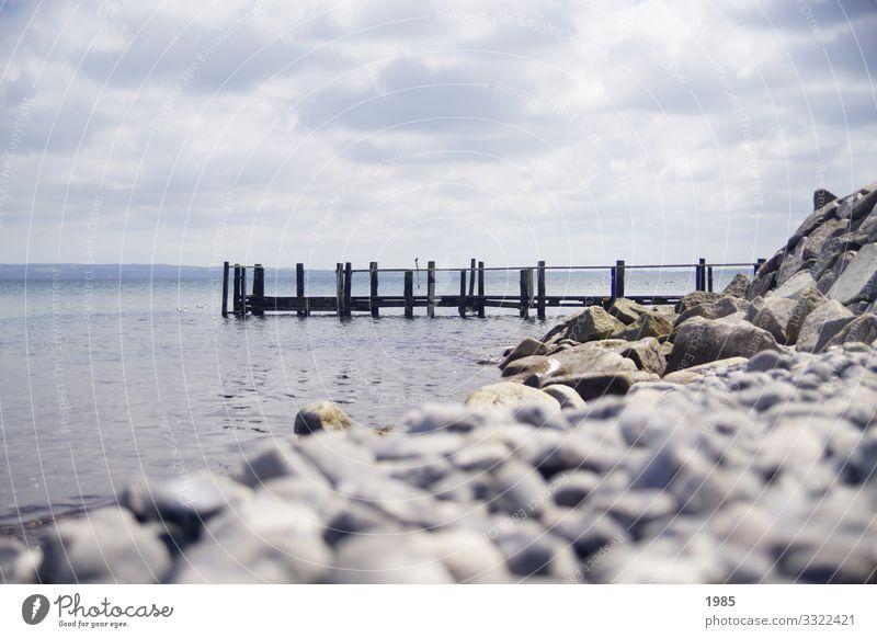 Der Steg Freizeit & Hobby Angeln Ferien & Urlaub & Reisen Tourismus Ausflug Freiheit Sightseeing Sommer Strand Meer Natur Wasser Himmel Horizont Schönes Wetter