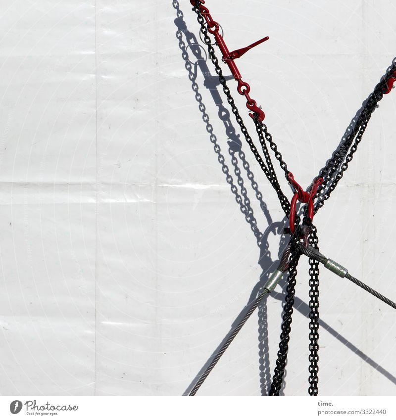 Verkettungen (7) Arbeit & Erwerbstätigkeit Arbeitsplatz Güterverkehr & Logistik Handwerk Baustelle Technik & Technologie Abdeckung Zelt Zeltplane Kabel Kette