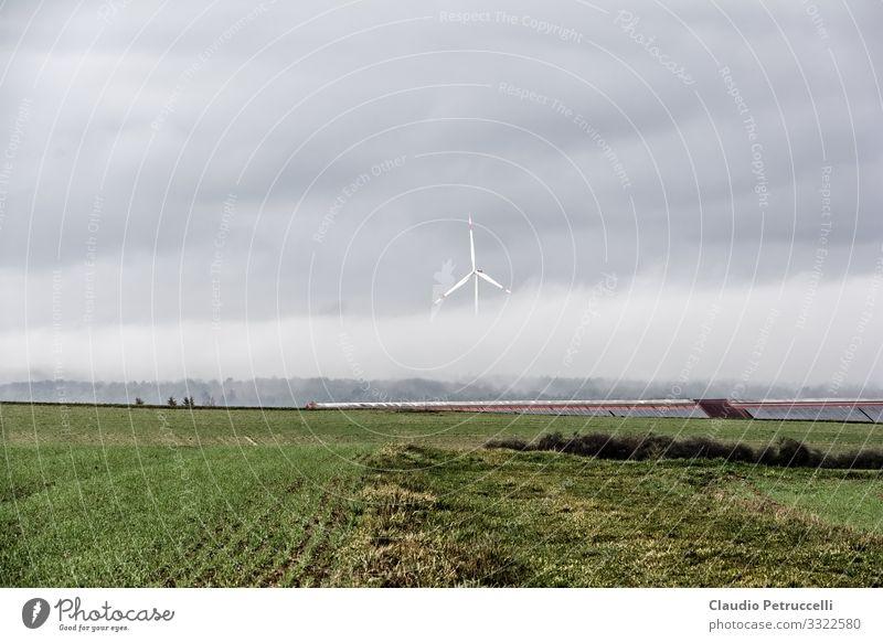 Windkraftanlage im Nebel Wirtschaft Landwirtschaft Forstwirtschaft Industrie Energiewirtschaft Technik & Technologie Fortschritt Zukunft Erneuerbare Energie