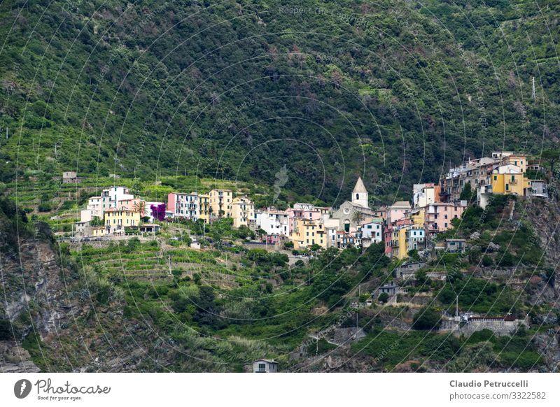 Corniglia, Cinque Terre, Ligurien, Italien Ferien & Urlaub & Reisen Tourismus Ausflug Ferne Sightseeing Städtereise Kreuzfahrt Sommer Sommerurlaub Sonne Meer