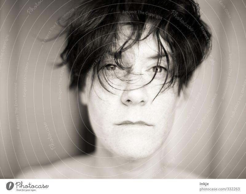Eigentlich bin ich ganz anders... Mensch Frau Erwachsene Gesicht Leben Gefühle Haare & Frisuren Denken Stil außergewöhnlich Lifestyle nass einzigartig