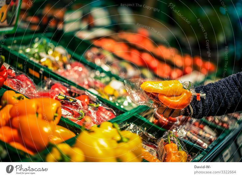 einkaufen / Plastikverpackung Lebensmittel Gemüse Salat Salatbeilage Ernährung Lifestyle Stil Design Geld sparen Gesundheit Gesundheitswesen Krankheit Bildung