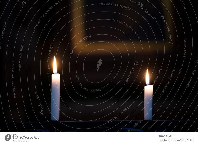 Textfreiraum bei Kerzenschein elegant Stil Design Weihnachten & Advent Trauerfeier Beerdigung Mensch Leben Kunst Kunstwerk Gemälde leuchten Traurigkeit