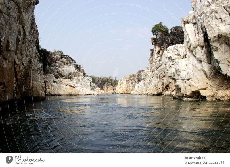 Rocky Banks von Narmada Ferien & Urlaub & Reisen Geldinstitut Natur Landschaft Fluss Platz glänzend horizontal Asien Indien Madhya Pradesh Jabalpur Bedaghat