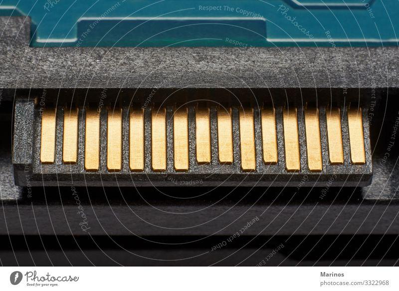 Nahansicht des Festplattencomputers. Computer Technik & Technologie Medien Aktenordner Tatkraft Lamelle hart Laufwerk Sicherung Hardware sata Daten hdd