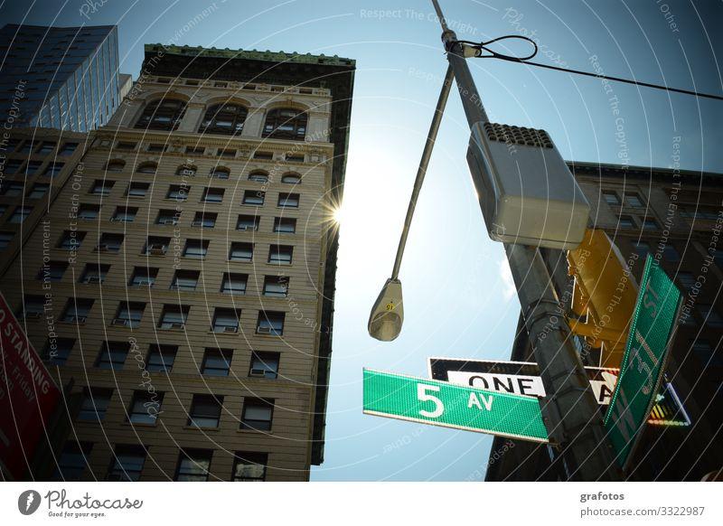Good Morning NY kaufen Ferien & Urlaub & Reisen Tourismus Städtereise New York City Stadtzentrum Fußgängerzone Straße Straßenkreuzung Verkehrszeichen
