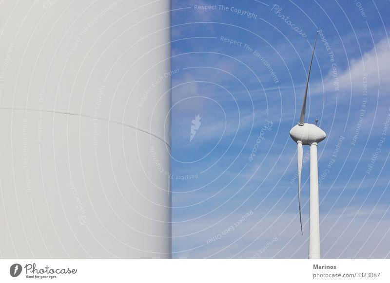 Windturbine für die Produktion von elektrischer Energie, ökologische Energie. Industrie Energiewirtschaft Technik & Technologie Umwelt Natur Landschaft Himmel