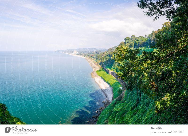 Himmel Ferien & Urlaub & Reisen Natur Sommer blau Farbe grün Landschaft Baum Meer Wolken Blatt Wald Strand Berge u. Gebirge Herbst