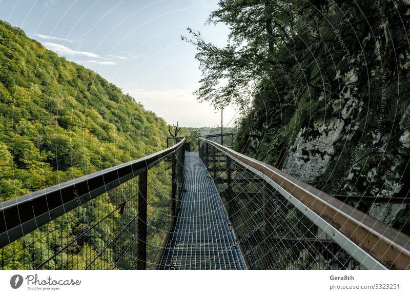 Himmel Ferien & Urlaub & Reisen Natur Pflanze blau Farbe grün Landschaft Baum Wolken Blatt Wald Berge u. Gebirge Straße Herbst Wärme