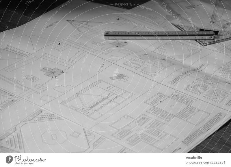 Architekturzeichnungen für eine geplante Kirche Design Hausbau Studium Arbeit & Erwerbstätigkeit Büroarbeit Baustelle Gebäude bauen Beginn Idee