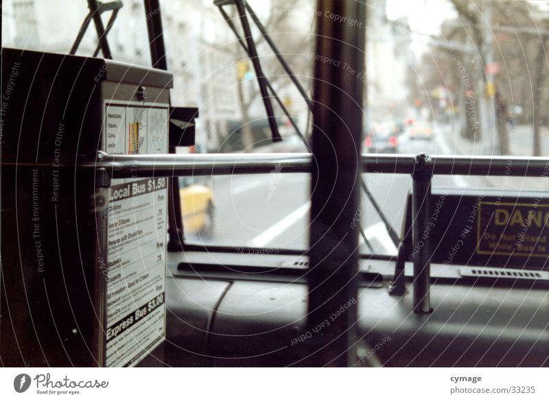 central park line New York State New York City Amerika fahren Mobilität Station Aussicht Scheibenwischer Park offen Verkehrsmittel USA Bus Fahrkarte vorwärts