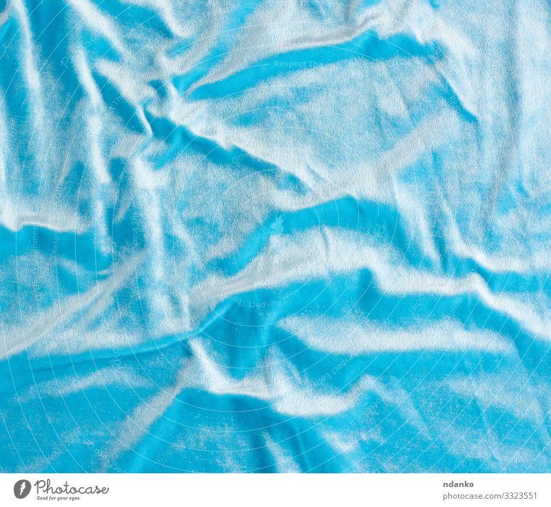 blaue Samt-Textur mit Wellen elegant Stil Design Mode Bekleidung Stoff einfach Unendlichkeit modern Farbe Konsistenz übergangslos Hintergrund Textil Element