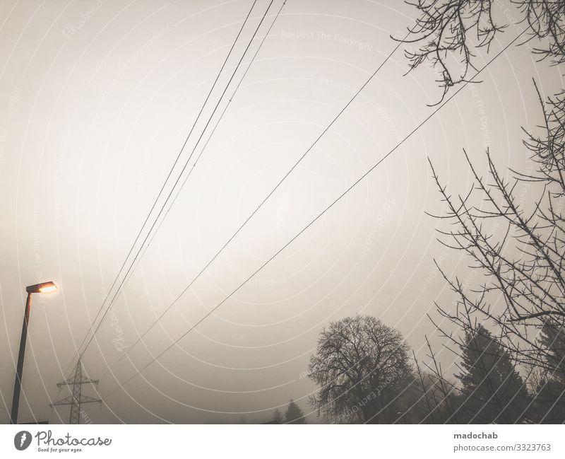 Am Morgen II Technik & Technologie Energiewirtschaft Erneuerbare Energie Energiekrise Umwelt Natur Landschaft Klima Klimawandel Wetter schlechtes Wetter Nebel