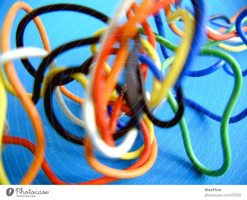 farbiger_draht_salat Farbe Makroaufnahme Draht