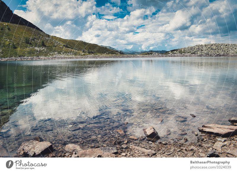 Berglandschaft mit See (Österreich) Ferien & Urlaub & Reisen Tourismus Ausflug Ferne Freiheit Sommer Sommerurlaub Berge u. Gebirge wandern Umwelt Natur
