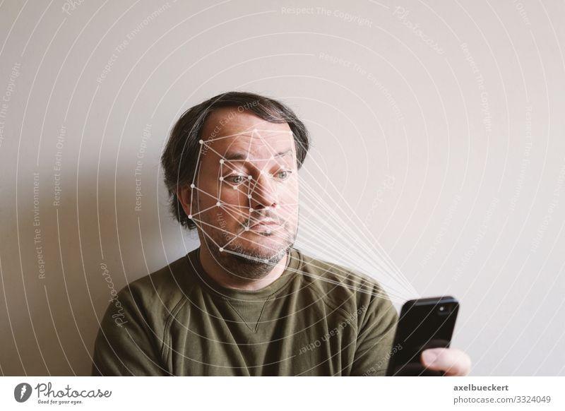 Smartphone mit Gesichtserkennung gesichtserkennung Scan Handy Technik & Technologie Lifestyle Freizeit & Hobby Telefon Software Wissenschaften Fortschritt
