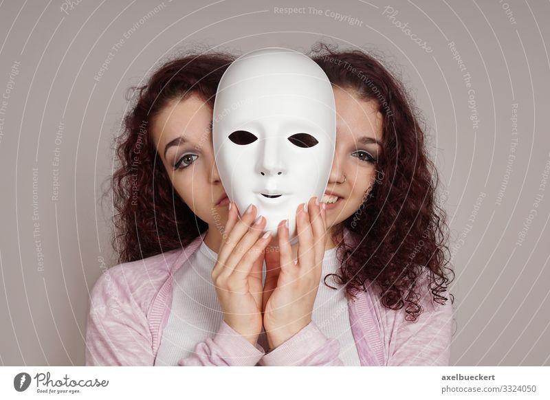 bipolare Störung Psychische Störung manisch depressiv Maske manische depression Gesundheit Krankheit Gesundheitswesen Mensch Junge Frau Jugendliche Erwachsene