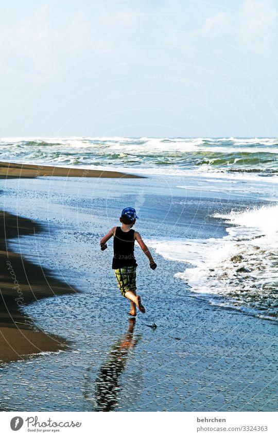 eins mit den wellen tortuguero Landschaft Kontrast fantastisch Abenteuer Ausflug Junge Kind Freiheit Ferne Ferien & Urlaub & Reisen Tourismus Kindheit Meer