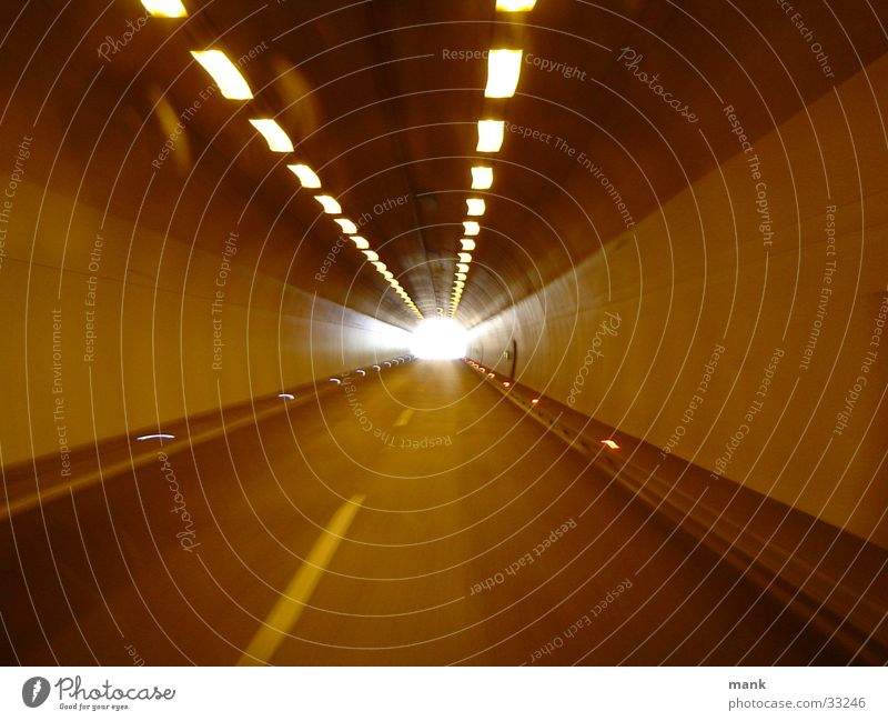 Fluchtpunkt Beleuchtung Verkehr Perspektive Ende Tunnel