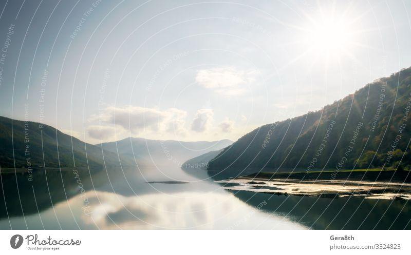 Himmel Ferien & Urlaub & Reisen Natur Sommer Pflanze blau Farbe grün Landschaft Sonne Baum Erholung Wolken Wald Berge u. Gebirge Wärme