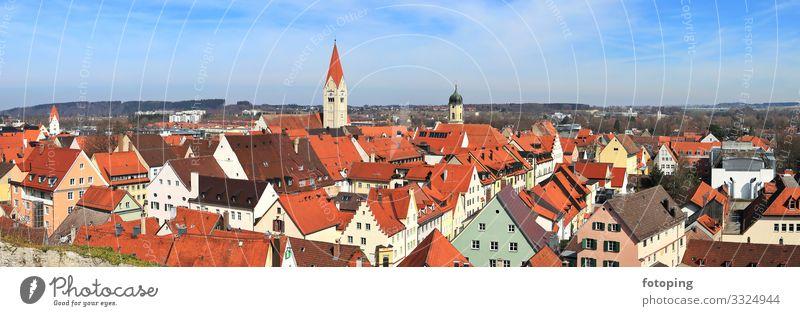 Kaufbeuren schön Tourismus Ausflug Sightseeing Städtereise Sommer Sonne Wolken Stadt Altstadt Architektur Sehenswürdigkeit Wahrzeichen Denkmal historisch blau