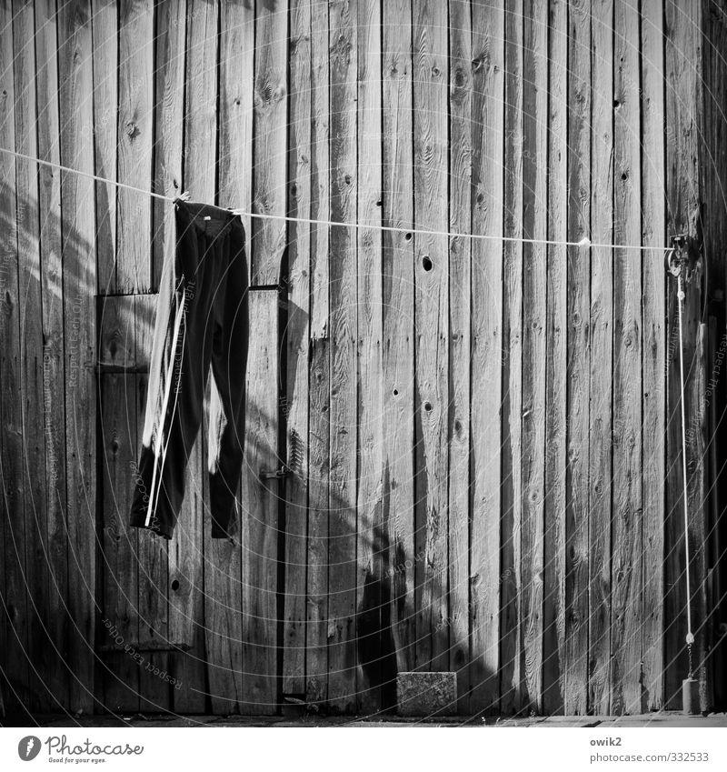 Hängen bis sauber alt Bewegung Holz Glück Tür frei warten einfach Sauberkeit trocken sportlich fest hängen Momentaufnahme trocknen geduldig