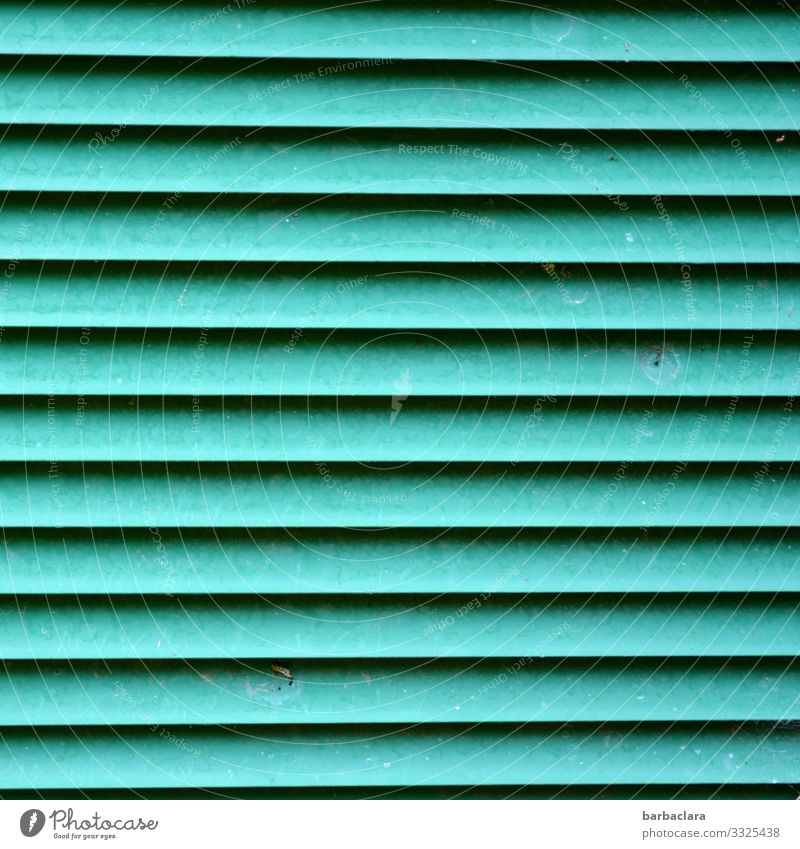 liniert Lüftungsschlitz Technik & Technologie Energiewirtschaft Kasten Container Metall Linie Streifen türkis Design Umwelt Stadt Farbfoto Außenaufnahme