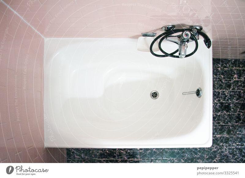 Badewanne Häusliches Leben Wohnung Stein Schwimmen & Baden eckig einfach hoch retro rosa Dusche (Installation) Fliesen u. Kacheln Duschkopf Farbfoto
