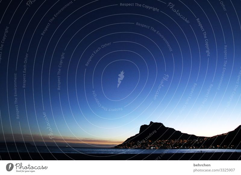 wenn es nacht wird... Ferien & Urlaub & Reisen Tourismus Ausflug Abenteuer Ferne Freiheit Landschaft Himmel Berge u. Gebirge Wellen Küste Strand Bucht Meer