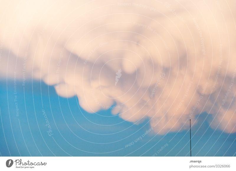 Wolke mit Antenne Naturgewalt Klimawandel Wetter nur Himmel Umwelt Urelemente Stimmung Wolken Wetterumschwung