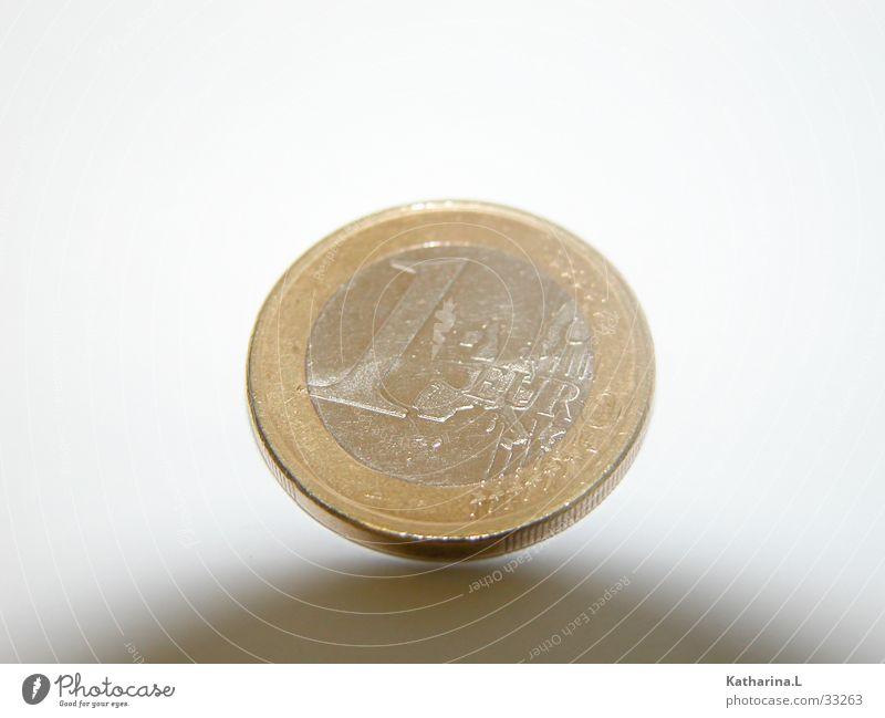 Euro Muenze Geld Perspektive Dinge Schweben Geldmünzen