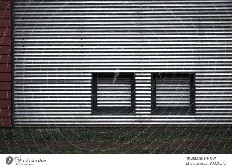 Olympiastützpunkt Brandenburg/Potsdam, (Detail) Sportstätten Stadtrand Bauwerk Gebäude Architektur Fassade ästhetisch Coolness dunkel elegant nah modern neu