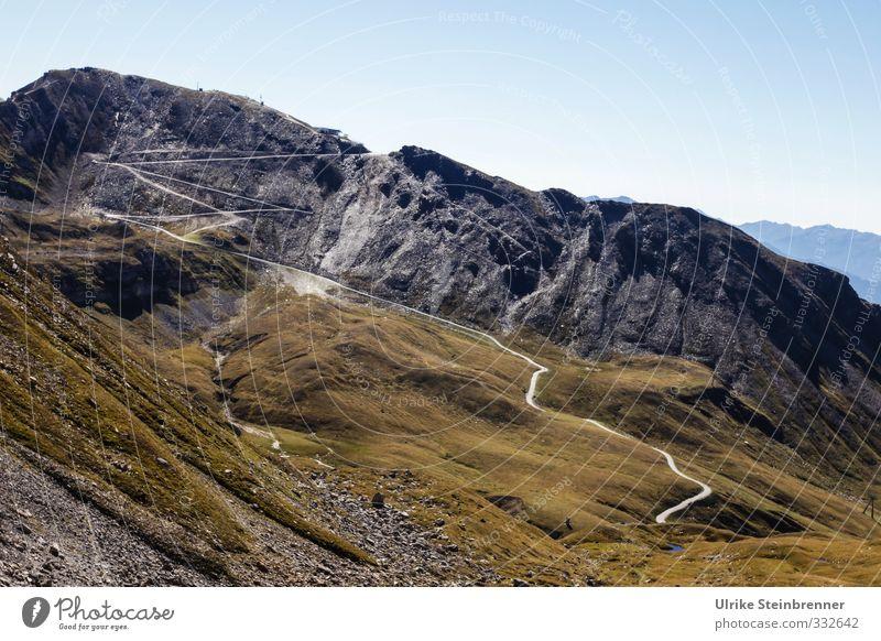 Zett alpin Erholung ruhig Ferien & Urlaub & Reisen Tourismus Sommer Berge u. Gebirge wandern Umwelt Natur Landschaft Himmel Wolkenloser Himmel Gras Moos Felsen