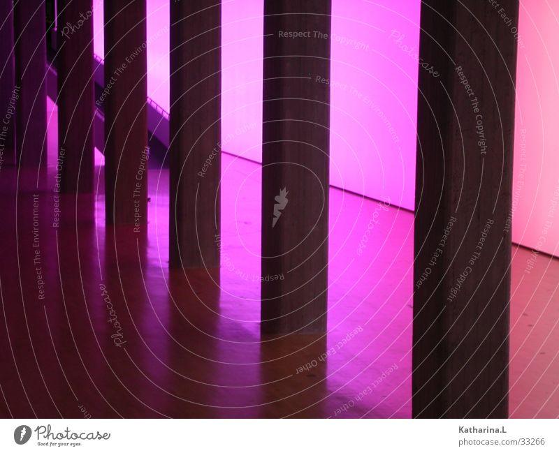 Lila Halle Farbe Raum Architektur Beton violett Lagerhalle Säule